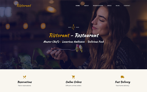 [DOWNLOAD] - Ristorant - Restaurant Bootstrap Template