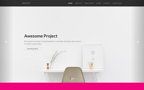 Proton - Agency/Portfolio Template - Live Preview - WrapBootstrap