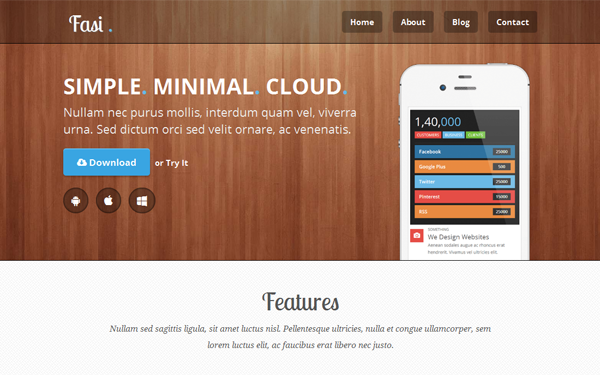 Fasi - Responsive Mobile App Theme | Landing Pages | WrapBootstrap
