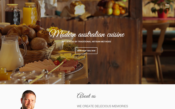 prasto one page restaurant theme wrapbootstrap