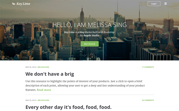 Key Lime - Parallax Blog Template