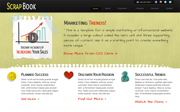 ScrapBook: Sketched Marketing Template