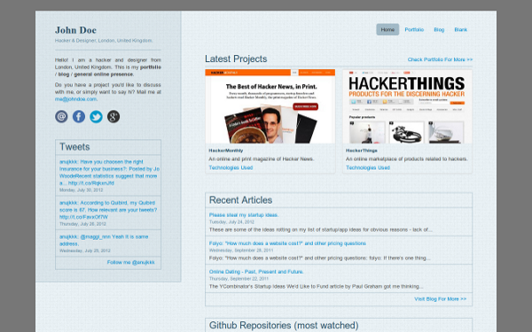 Portfolio Templates - Hackfolio - <p>Premium Bootstrap Template</p>