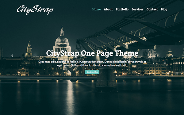 CityStrap One Page HTML5 Template - Live Preview - WrapBootstrap