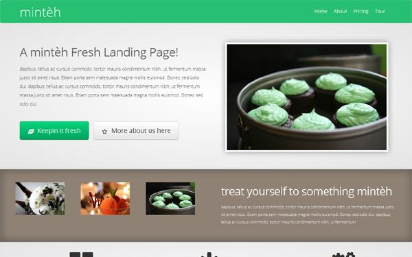 Minteh fresh landing page