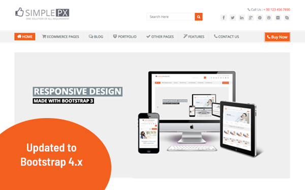 simplepx multipurpose html5 template wrapbootstrap