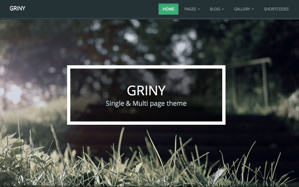 Griny - Single & Multi Page Theme - Live Preview - WrapBootstrap