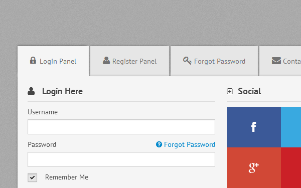 Tabs Control & Tabbed Form (Responsive) | Components