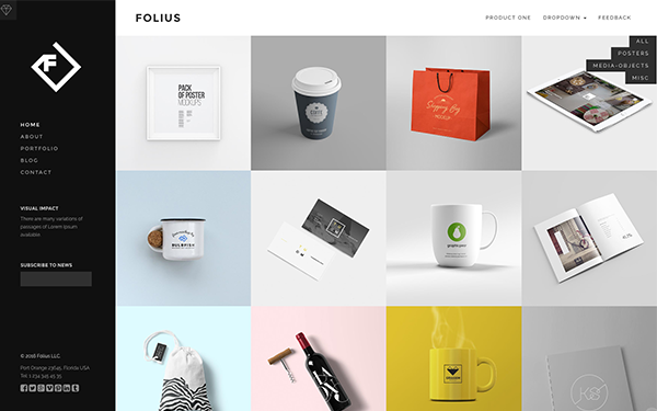 DOWNLOAD - Folius - Portfolio Template
