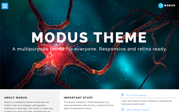 MODUS - Multipurpose Theme - Live Preview - WrapBootstrap