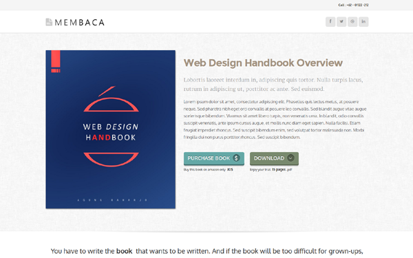 membaca e book selling template wrapbootstrap