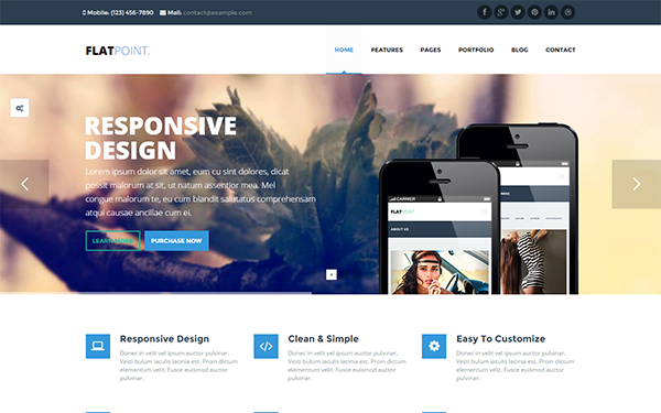 FlatPoint - Flat Multi-Purpose Theme - Live Preview - WrapBootstrap