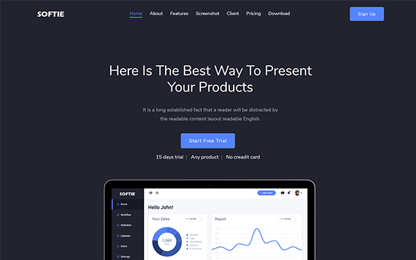 DOWNLOAD - Softie - SaaS & Software HTML5 Landing Page