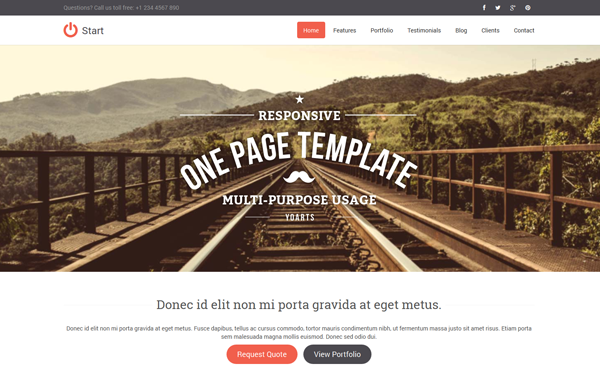 DOWNLOAD - Start - Responsive One Page Template