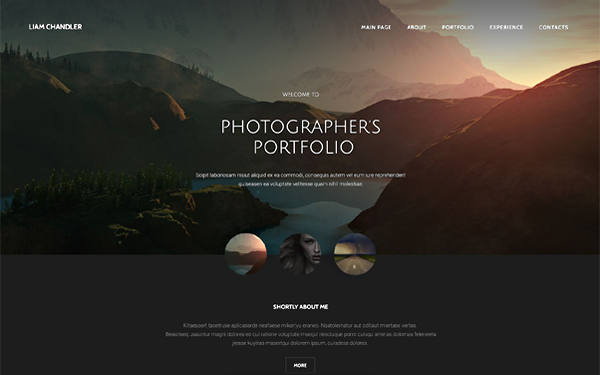 Single Photographer's Portfolio Template - Live Preview - WrapBootstrap