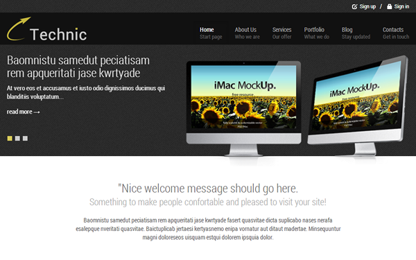 Technic - Business Theme - Live Preview - WrapBootstrap