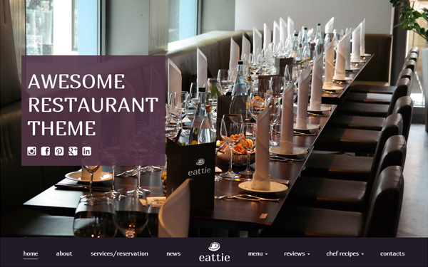 EATTIE - Restaurant & Cafe Food Theme - Live Preview - WrapBootstrap