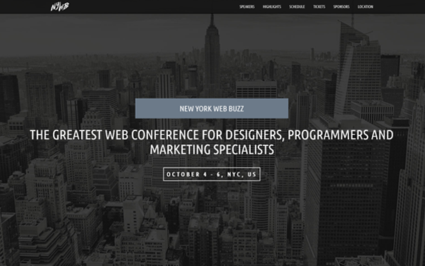 WebBuzz - Classy Event Template - Live Preview - WrapBootstrap