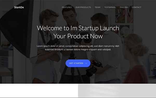 StartOn - Bootstrap Startup Template | Landing Pages | WrapBootstrap