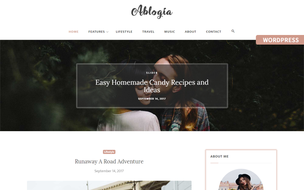 DOWNLOAD - Ablogia - Personal WordPress Blog Theme