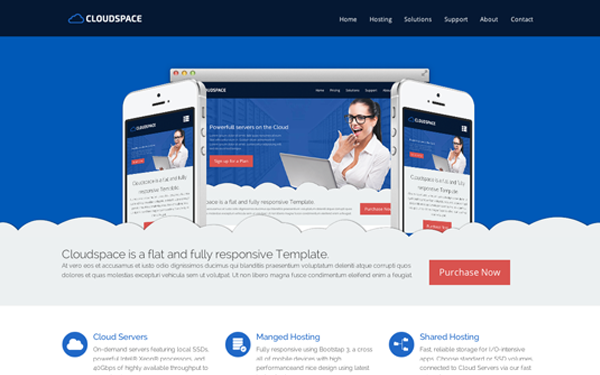 Cloud Space - Responsive Website Theme
