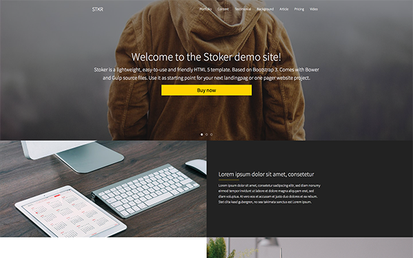 STOKER - Responsive Landing Page - Live Preview - WrapBootstrap