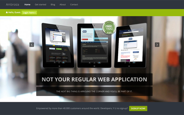 Ambrosia - Web Application Theme | Bootstrap Business & Corporate ...