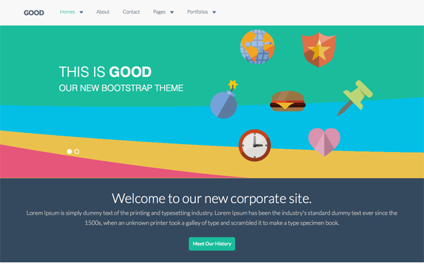 GOOD - Flat Corporate Theme
