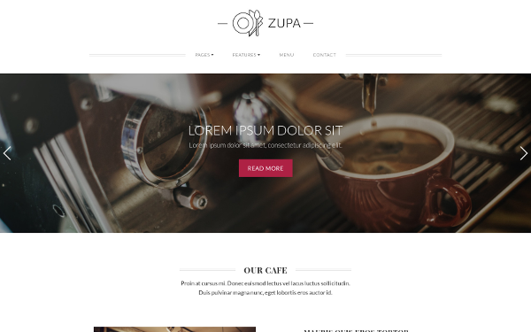 ZUPA - Restaurant Website Template