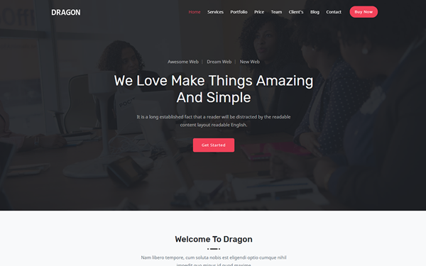 DOWNLOAD - Dragon - Responsive One Page Template