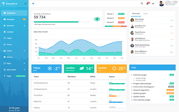 Dauphin - Premium Admin Template - Live Preview - WrapBootstrap