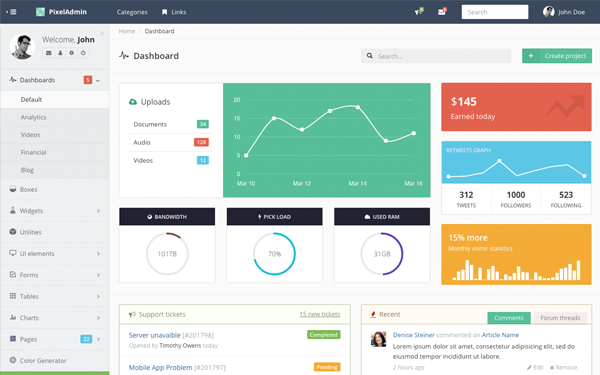 Download Flatify - Responsive Admin Web App theme, free preview