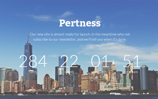Pertness - Coming Soon Template