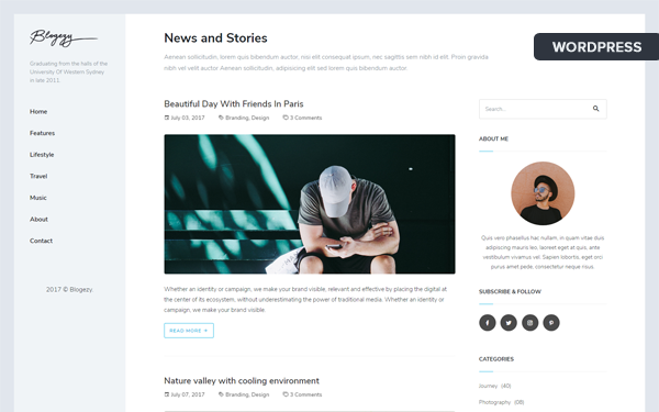 BlogezyWP - Responsive Personal Blog Theme