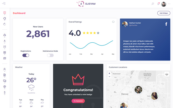 [DOWNLOAD] - Elisyam - Admin Dashboard Template