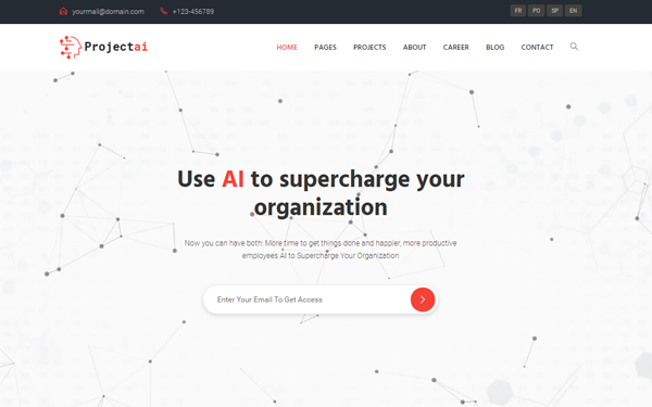 DOWNLOAD - ProjectAi - AI Agencies & Startups Template