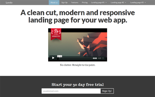 DOWNLOAD - Lando - Responsive Landing Page