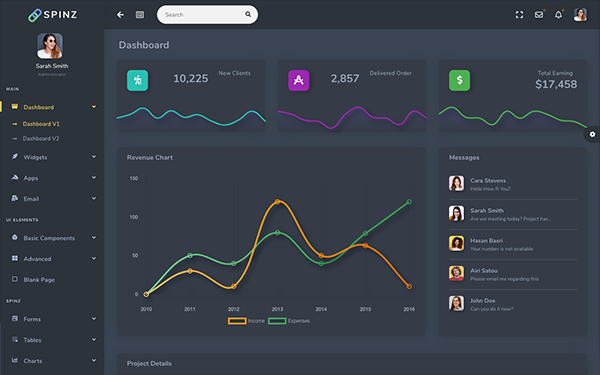 [DOWNLOAD] - Spinz - Bootstrap 4 Admin Template
