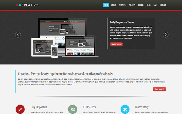 Creativo - Responsive Website Template - Live Preview - WrapBootstrap