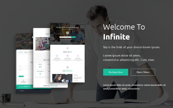 Infinite - Responsive Landing Template - Live Preview - WrapBootstrap