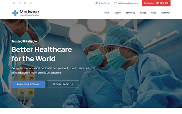 Medwise - Medical and Health Template - Live Preview - WrapBootstrap