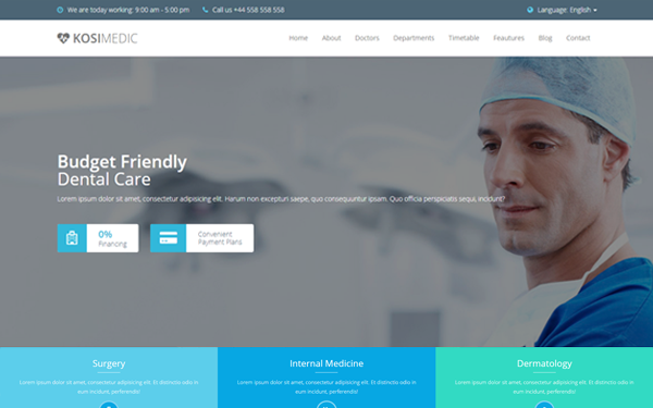 KosiMedic - Medical Template - Live Preview - WrapBootstrap