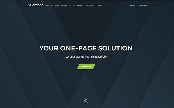 Bamboo - Smooth One Page Theme - Live Preview - WrapBootstrap