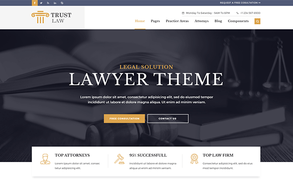 Trust - Modern Lawyer Attorney Theme - Live Preview - WrapBootstrap