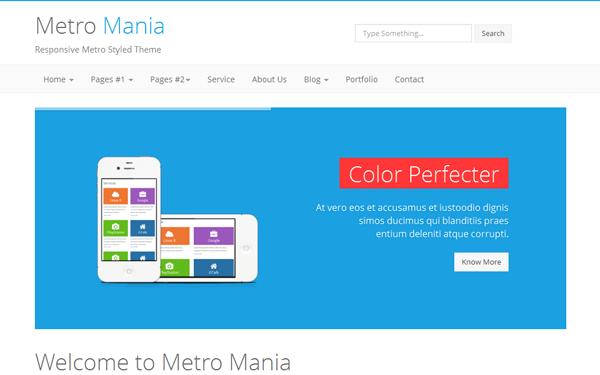 Metro Mania - No.1 Metro Bootstrap Theme - Live Preview - WrapBootstrap