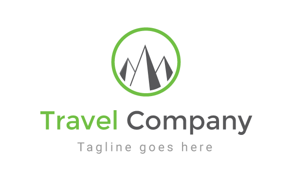 travel company logo template by rowmim wrapbootstrap