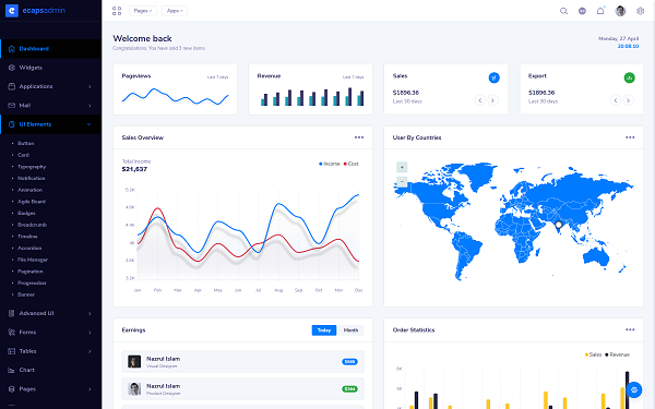 Ecaps - Responsive Bootstrap Admin Template