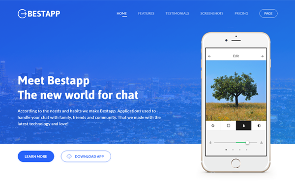 Bestapp - Premium Showcase Landing Page - Live Preview - WrapBootstrap