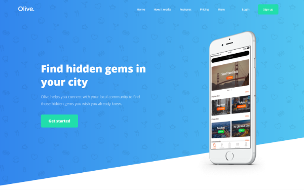 Freelance themes wrapbootstrap olive modern onemulti page template pronofoot35fo Image collections