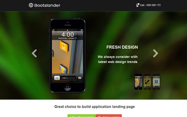 Bootslander Landing Page - Live Preview - WrapBootstrap
